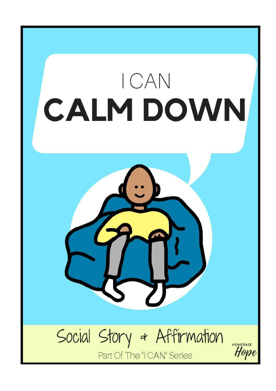 image regarding Free Printable Social Story Template called I Can Relaxed Down - Social Tale For Small children With Autism