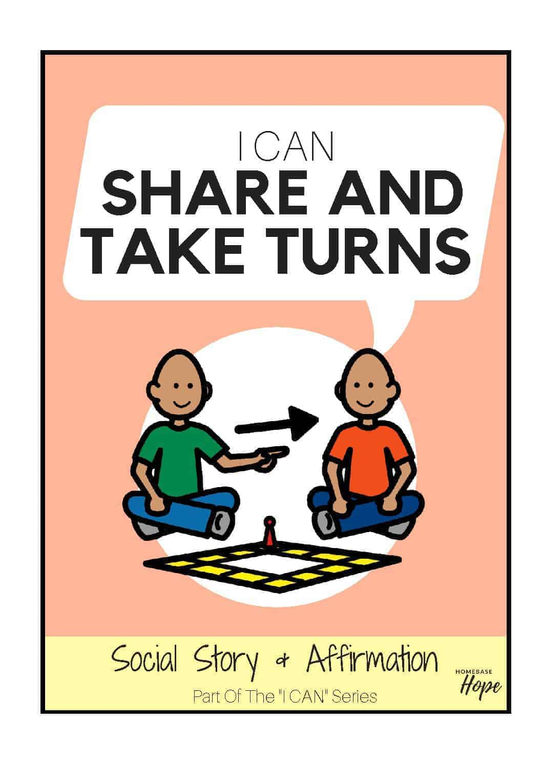 I Can Share And Take Turns - Social Story For Kids With Autism