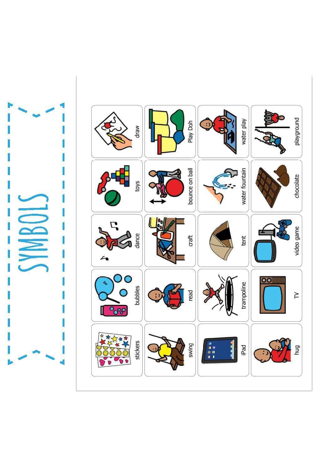 toileting visual schedule  u0026 reward visual