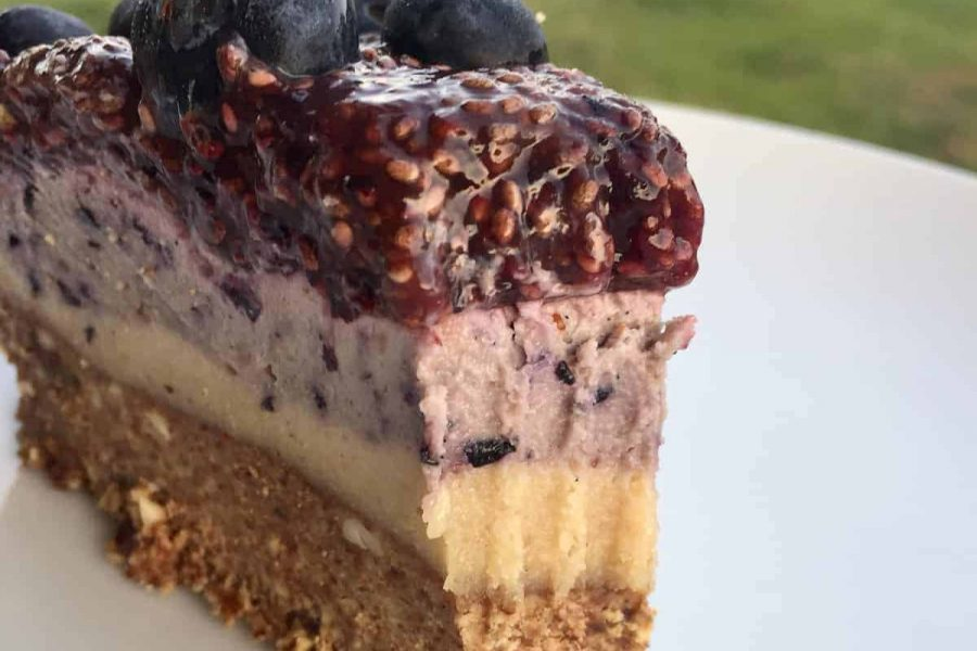 paleo berry cheesecake